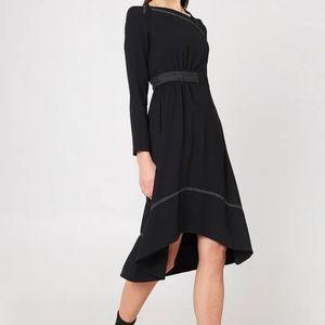 Midi Dress with Contrasting Seams